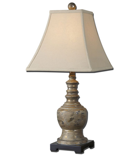Uttermost Valtellina 1 Light Table Lamp in Heavily Antiqued Taupe Gray Wash 29299 photo