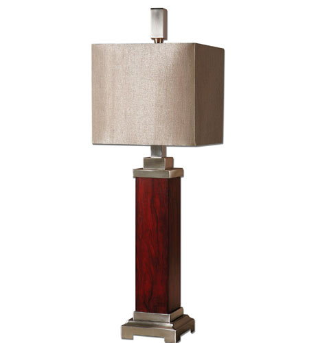 Uttermost Brimley Modern Wood Table Lamp in Wood 29323-1 photo