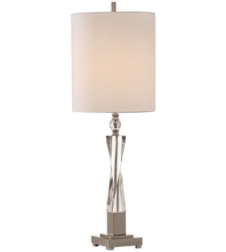 Brushed Nickel Linen Table Lamps