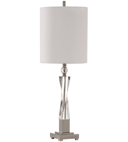Uttermost 29620-1 Twyla 38 inch 150 watt Brushed Nickel and Crystal Table Lamp Portable Light 29620-1_A.jpg