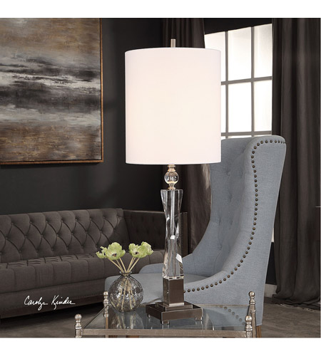 Uttermost 29620-1 Twyla 38 inch 150 watt Brushed Nickel and Crystal Table Lamp Portable Light 29620_Lifestyle.jpg