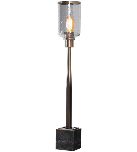 Uttermost Black Glass Table Lamps