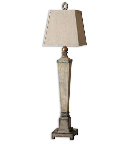 Uttermost Gilman 1 Light Lamps in Aged Ivory and Antique Silver 29659 photo