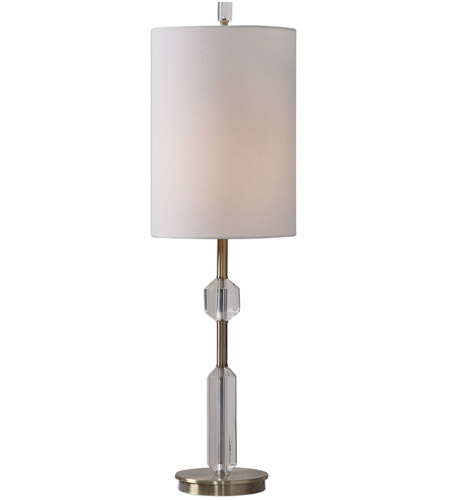 03a846fb4ed Uttermost 29672-1 Margo 33 inch 100 watt Antique Brass and Crystal Buffet  Lamp Portable