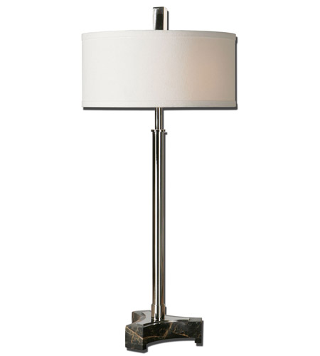 Uttermost Dazio 2 Light Table Lamp in Chrome Plated Metal 29725-1 photo