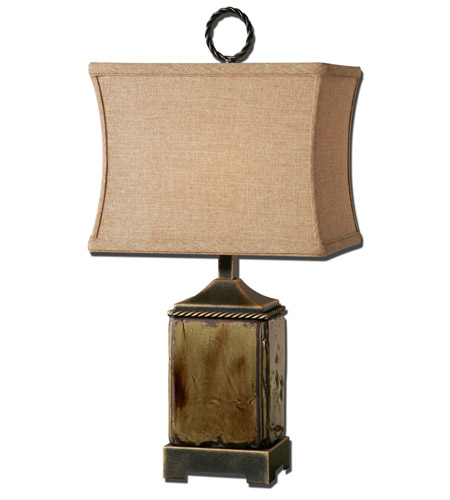 Uttermost 29728-1 Porano 24 inch 100 watt Distressed Porcelain Table Lamp Portable Light photo