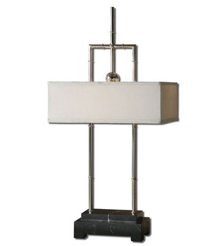 Uttermost Jataya 2 Light Table Lamp in Polished Nickel 29769-1 photo