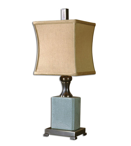 Uttermost Bernadette Table Lamp in Pale Blue Crackled Porcelain 29827-1 photo