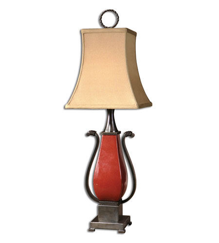 Uttermost Reid Buffet Table Lamp in Crackled Tomato Red 29836