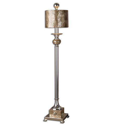 Uttermost 29872-1 Pearl 35 inch 60 watt Silver Plated Table Lamp Portable Light