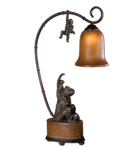Uttermost Monkeyshine Lamp Table Lamp in Patinaed Bronze 29919-1