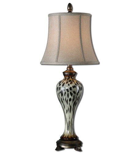 Uttermost Malawi 1 Light Table Lamp in Burnished Cheetah Print 29926 photo