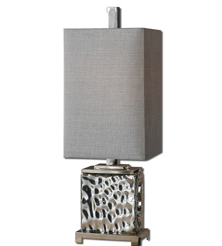 Uttermost 29927-1 Bashan 32 inch 100 watt Polished Nickel Table Lamp Portable Light photo thumbnail