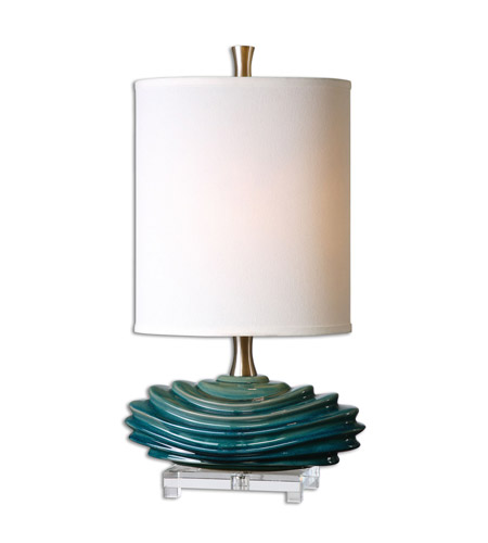 Uttermost 29976 1 talucah 27 inch 100 watt teak blue table for 100 watt table lamps