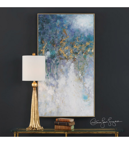 Uttermost 31407 Floating Gold Leaf Abstract Wall Art Photo