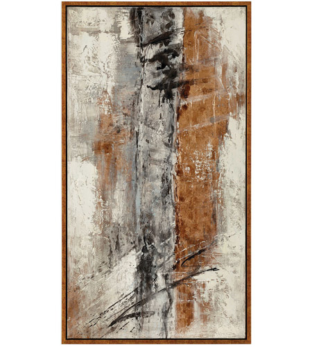 Uttermost 31413 E Of Life Golden Bronze With Mottled Brown And Black Accents Canvas Art Photo