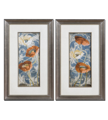 Uttermost 33562 Poppies De Bleu 29 X 17 inch Art Prints