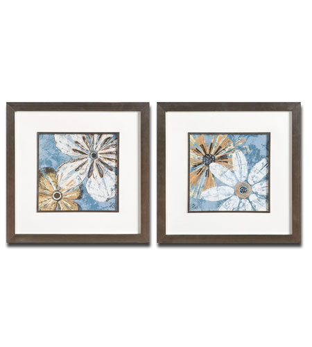 Uttermost Berkeleys Flowers Set of 2 Wall Art 33565 photo