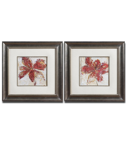 Uttermost Floral Gesture Set of 2 Wall Art 33569 photo