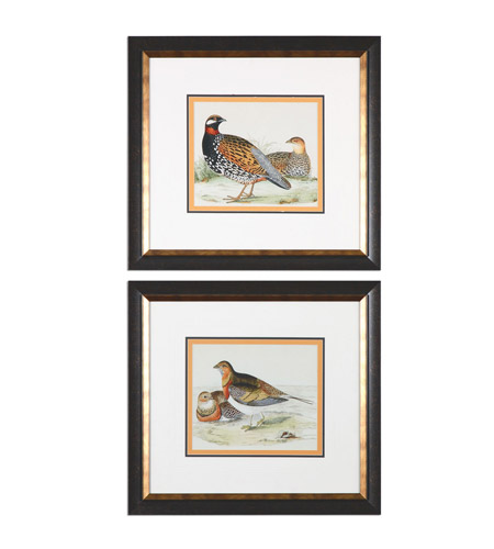Uttermost 33612 Pair Of Quail 24 X 22 inch Bird Art Prints