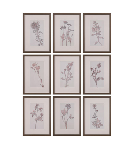 Uttermost 33626 Spring Delights Pewter Floral Wall Art