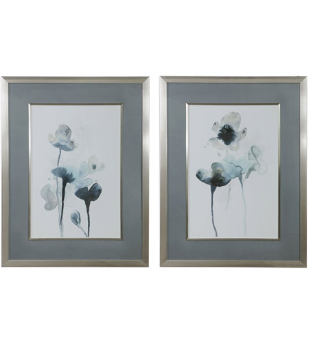Uttermost 33688 Midnight Blossoms 35 X 27 inch Framed Prints, Set of 2