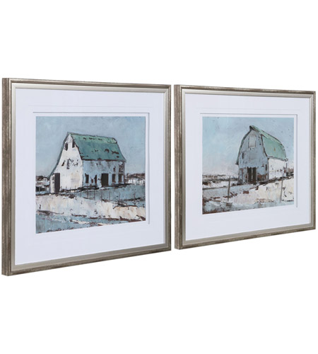 Uttermost 33689 Plein Air Barns 34 X 28 inch Framed Prints, Set of 2