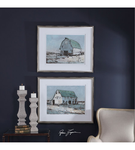 Uttermost 33689 Plein Air Barns 34 X 28 inch Framed Prints, Set of 2 33689_Lifestyle.jpg
