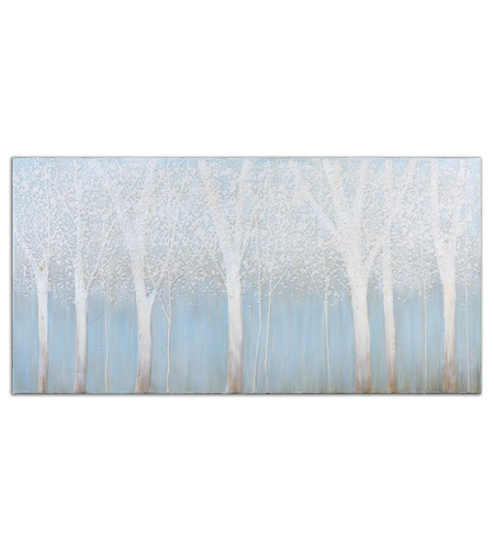 Uttermost 33701 Trees In The Mist 60 X 30 inch Hand Painted Art