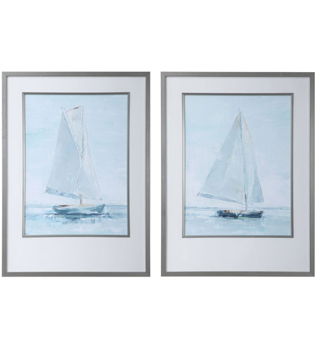 Uttermost 33708 Seafaring 34 X 25 inch Framed Prints, Set of 2