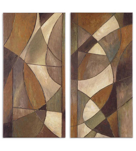 Uttermost Outdoor Abstract Shapes Set of 2 Art 34019 photo