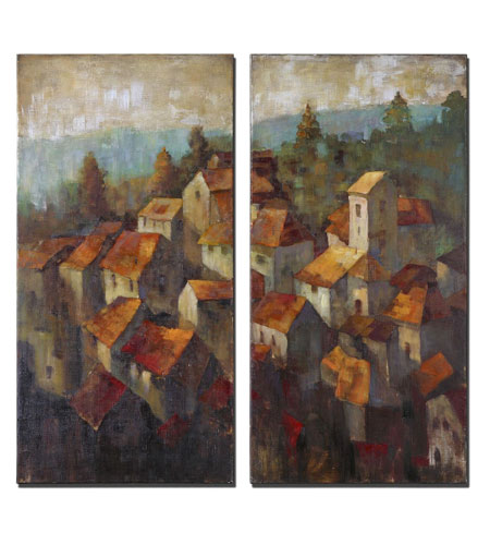 Uttermost 34232 Rooftops 40 X 20 inch Paintings