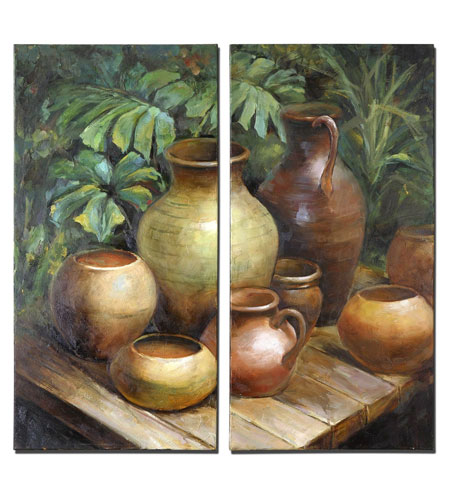 Uttermost 34233 Vessels In Waiting 40 X 20 inch Paintings