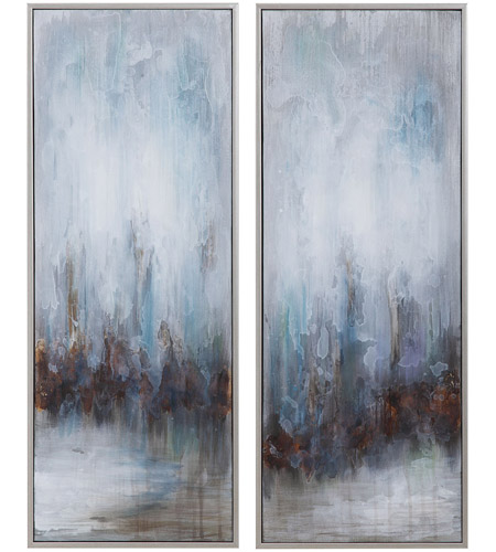 Uttermost 34376 Rainy Days 33 X 13 inch Abstract Art, Set of 2