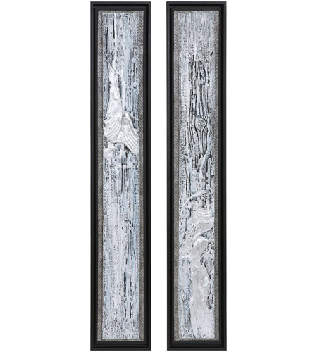 Uttermost 35370 Silver Lining 46 X 8 inch Abstract Art, Set of 2