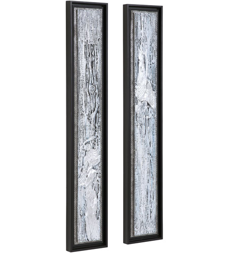 Uttermost 35370 Silver Lining 46 X 8 inch Abstract Art, Set of 2 35370_A1_ANGLE.jpg