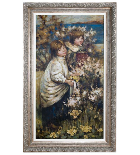 Uttermost Gathering The Flowers Wall Art in Antique Silver Leaf 41123 photo