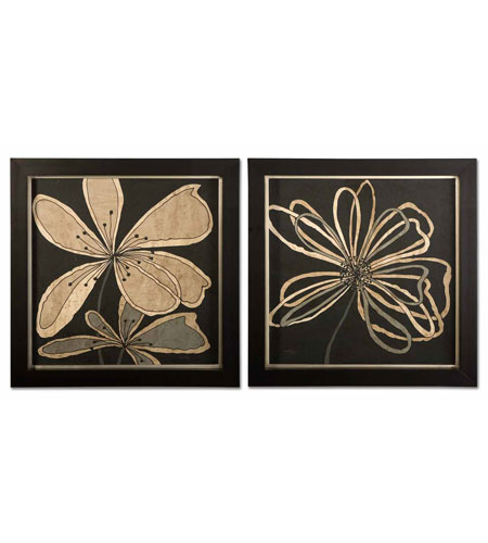Uttermost 41181 Oxygen Flower & Scribble n/a Wall Art