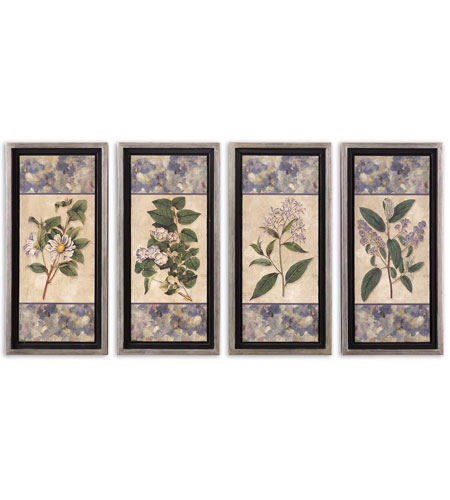 Uttermost Blue & Lilac I II III IV Set of 4 Art 41256 photo