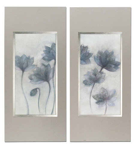 Uttermost Prussian Grace Floral Art (Set of 2) 41378 photo