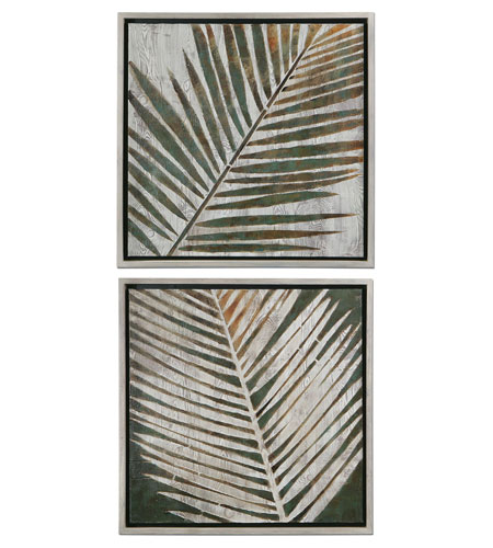 Uttermost 41411 Detailed Palms 32 X 32 inch Paintings photo