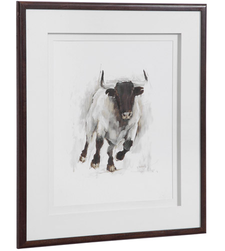 Uttermost 41606 Rustic Bull 32 X 28 inch Framed Animal Print 41606_A2_ANGLE.jpg