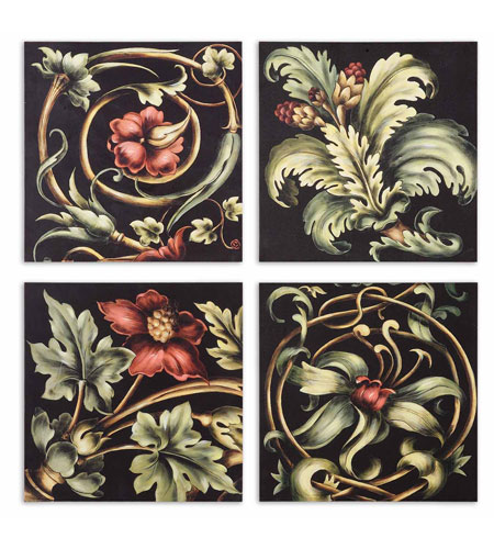 Uttermost 51011 Vibrant Floral Square I n/a Wall Art