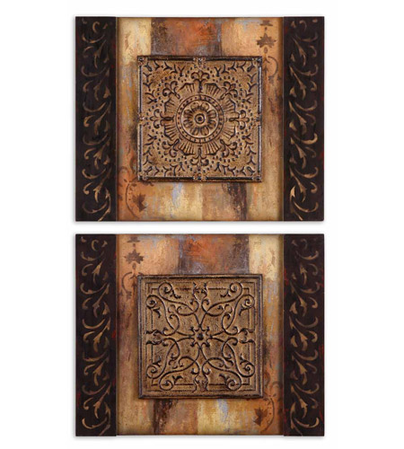 Uttermost 51054 Ornamentational Block I n/a Wall Art