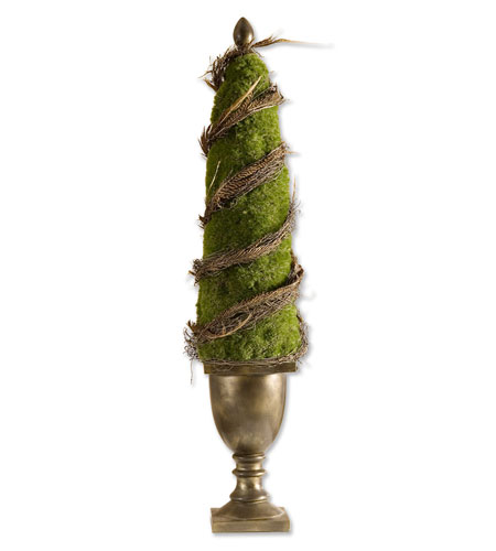 Uttermost Amherst Point Moss Obelisk Botanical 60050 photo