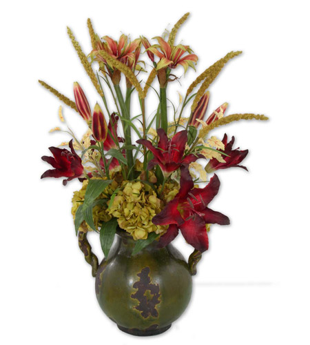 Uttermost Daylilies In Tuscan Urn Botanical 60084 photo