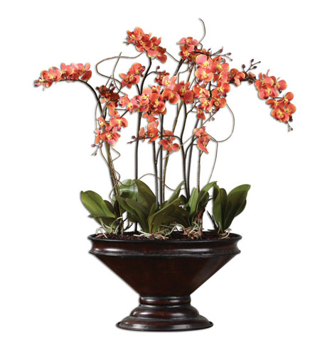 Uttermost 60104 Sunrise Orchids Deep Brown Botanical