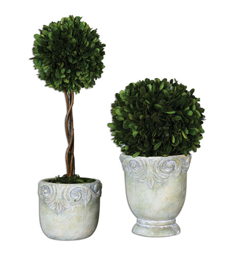 Uttermost 60112 Preserved Boxwood Ball Topiaries