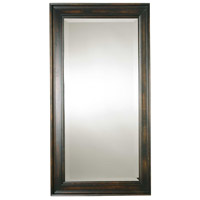 Uttermost Palmer Dark Mirror in Heavily Distressed Black Stain 01018-B