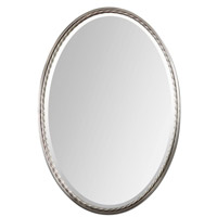 Uttermost Casalina Nickel Oval Mirror in Nickel 01115